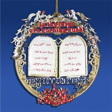 Brass The Ten Commandments ChristmasTree Ornament Ideal for year round display