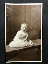 Vintage Postcard RP Anon People #B255 Baby White Gown: Test Valley Studio Romsey