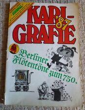 Karigrafie '87 Berliner Flötentöne zum 750. Ausstellungs-Journal Karikaturen DDR