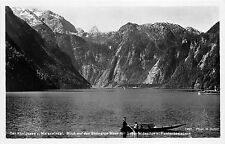BR38309 Des Konigssee v Malerwinkal blick auf des steinerne meer mit soh germany