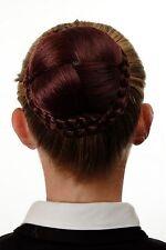 Dutt Haarteil aufwendig geflochten Haarknoten Tracht Braun Rostbraun N796-35