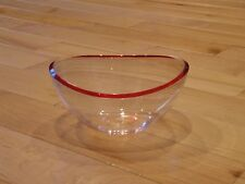 Clear Candy Dish with Red Rim
