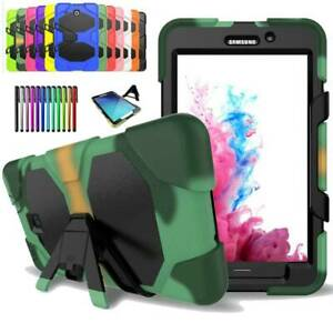 For Samsung Galaxy Tab A E S2 S3 7 8 9.6 Shockproof Heavy Rugged Duty Armor Case