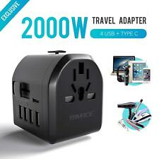 Travel Adapter,TryAce 2000W Travel Power Adapter 8A with 4 Usb & Type C New