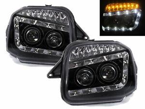Jimny Wide Sierra 98-18 SUV Projector LED R8Look Headlight Black for SUZUKI RHD