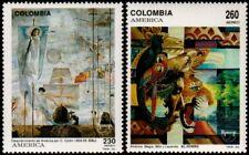 ✔️ COLOMBIA 1992 - UPAEP ART PAINTINGS - MI. 1867/1868 ** MNH OG [101.001 ]