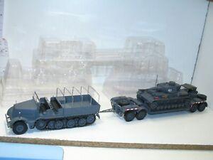 1:43 grand porte char allemand FAMO SDKFZ 9 + char PANZER IV