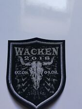 Wacken Open Air Patch/ Bügelbild 2018 Merchandise Fanartikel full metal bag