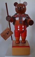 """Vintage Musical Ulbricht Bear Wood Reuge """"Happy Wanderer"""""""