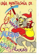 Tom & Jerry Cat & Mouse Friends-Mountain Climbing Sport-Christmas 1989 Postcard