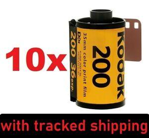 10x Kodak Gold 200 ISO 135/36 Color Negative Film - EXP. 05/2023 + NO CUSTOMS +