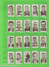#DD. FULL SET 1933 VFL FOOTBALLERS WILLS CIGARETTE  CARDS #1 to #200