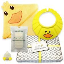 Baby Bath Gift Set Newborn Boy Girl Unisex Hooded Towel Sponge Shampoo Cap New
