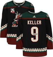 Clayton Keller Arizona Coyotes Signed Kachina Auth Jersey & 25th Anniv Patch