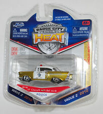 Jada BADGE CITY HEAT 1957 CHEVY BEL AIR SHERIFF WAVE 2 #016 1/64