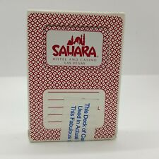 Carta Mundi Sahara Hotel & Casino Las Vegas Playing Cards, Casino Resealed
