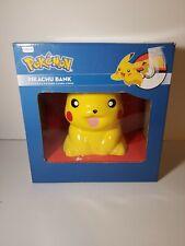 "Pikachu Porcelain coin piggy bank 9"" F.A.B. NY The Pokemon Company Nintendo"