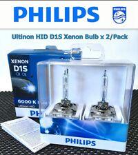 Genuine PHILIPS Ultinon 6000K D1S 85410 HID Xenon Bulb x2 Made in GERMANY #gtn