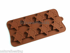 8 cell STAR Jewish Christmas Chocolate Silicone Bakeware Mould Candy Cake Mold