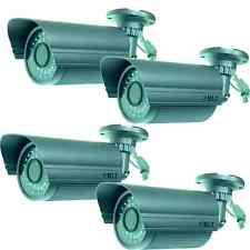 (4)SONY CCD 1/3 550TVL 8MM LENS COLOR NIGHT CCTV OUTDOOR Waterproof CAMERAS 150F