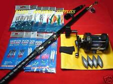 TRAVEL TELESCOPIC  FISHING BOAT ROD  REEL ALL TACKLE INCLUDED