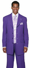 Man's Fashion Suit With Woven Vest,Tie And Hanky, Double Vents 8 Colors 38R~60L