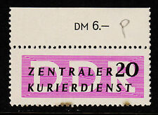 OPC 1956 Germany DDR 20pf Official Sc#O34 Top Numeral Margin MNH Toning bottom