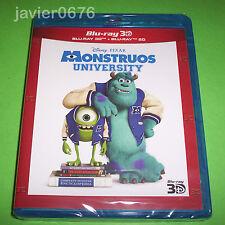 MONSTRUOS UNIVERSITY DISNEY PIXAR BLU-RAY 3D + BLU-RAY NUEVO Y PRECINTADO