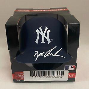 Dwight Doc Gooden Signed New York Yankees Mini Helmet Autographed AUTO