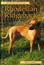 Pet Owner's Guide to Rhodesian Ridgeback (Pet ow. by Carlson, Stig G. Hardback