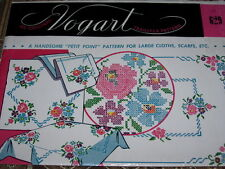 VTG. VOGART #629 - PETIT POINT FOR LARGE CLOTHS - HOT IRON TRANSFER PATTERN  FF
