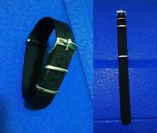 20mm NATO BOND cinturino nero per orologio con fibbia Rolex