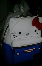 HELLO KITTY BLUE/WHITE SUIT MINI BACKPACK.LOUNGEFLY BNWT!