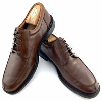 Johnston & Murphy Brown Leather Oxford Lace Up Split Shoes Mens 10.5 M 020-2184