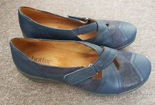 Hotter Blue Leather & Suede Shoes Brand New Size 5.5