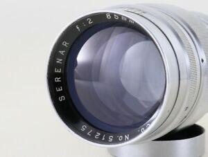 "Canon SERENAR 85mm F/2 Leica LTM 39Lens ""MINT"" Rare From Japan#5127"