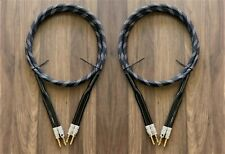 SPEAKER CABLE 14 GAUGE 6 FT PAIR. HIGH QUALITY CABLE. BANANA PLUG BY NAKAMICHI