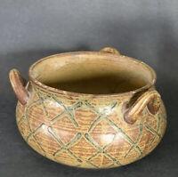 Vintage Pottery Vessel / Vase Planter - Marked Japan