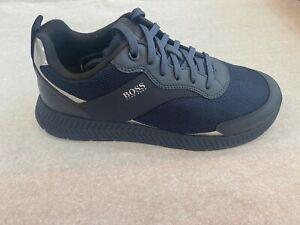 BOSS HUGO BOSS Men's Sneakers Titanium Runn MXMT In 404 Dk Blue