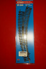 PECO ST244 RH Curved Turnout Manual 2 Rail