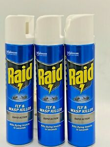 Raid Fly & Wasp Killer Rapid Action Spray 300ml X3 over 950 sold lowest price