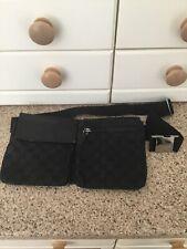 Gucci Negro Vagabundo/Bolso de la cintura utilizado ligeros signos de uso & defectuoso Broche de ahí el precio