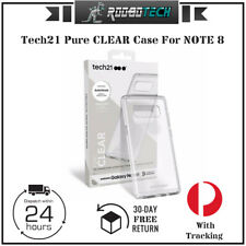 Tech21 Pure CLEAR Case For NOTE 8- Clear/White