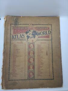 1900 G Cram Twentieth Century Atlas Of The World Maps Chicago Record Rare
