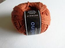 Camelino by Knit One Crochet Too 90% Merino Wool 10% Camel 109 yards #US7 rust