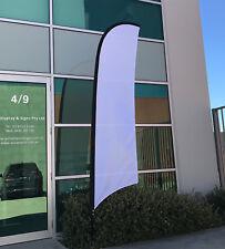 3.5m Blank White Flag / Outdoor Flag / Advertising Flag Banner - Ready to Ship!