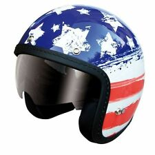CASCO ONE OLD VINTAGE CAFE RACER CUSTOM JET USA VISIERA A SCOMPARSA TG XL
