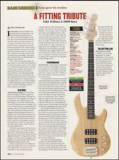 The G&L Tribute L-2000 bass guitar 8 x 11 sound check review
