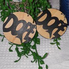 African Wooden Earrings|Drop Earrings