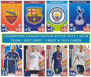 Topps UEFA Champions League Match Attax 2017/2018 17 18 cards numbers #1 - #198